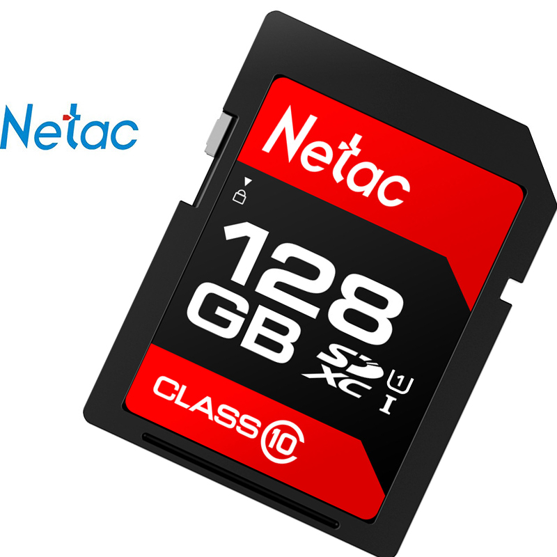100% Original Netac SDHC Camera SD Memory Card For Mobile Carte SD For Camera Support Official Verification Read Speed 100MB/s