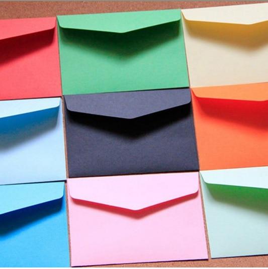 1pc /lot Candy Color Mini Envelopes DIY Multifunction Craft Paper Envelope For Letter Paper Postcards School Material