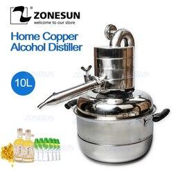 ZONESUN10L Distiller Bar Household Facilities Wine Limbeck Distilled Water Baijiu Large Capacity Vodka Maker Brew Alcohol Whisky