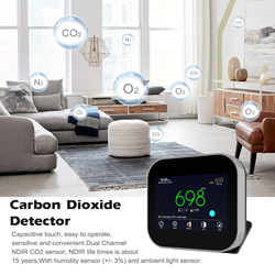 USB Powered CO2 Detector CO2 Sensor Environmental Testing Instrument Air Quality Monitor Carbon Dioxide Detector Air Analyzer