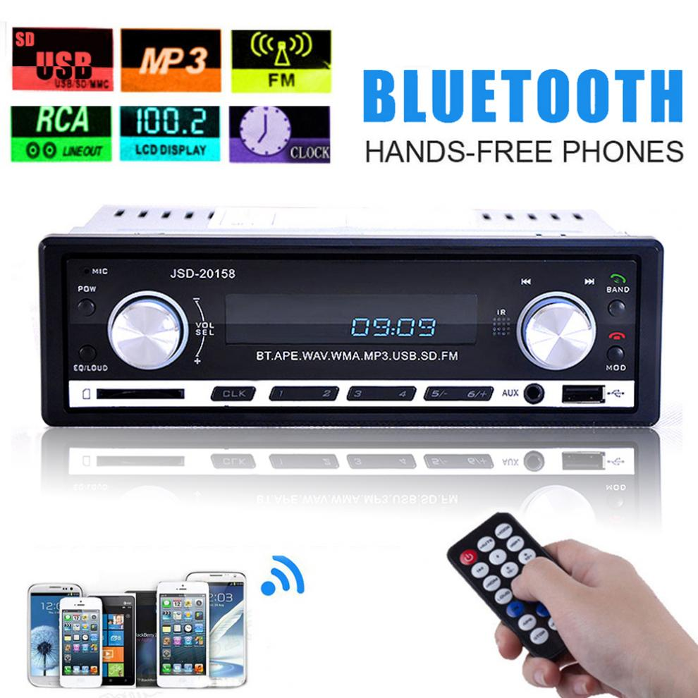 Digitale Auto Stereo <font><b>Bluetooth</b></font> Audio Musik MP3 Player 1 DIN In Dash FM Radio Aux Eingang Empfänger SD USB MP3 player image