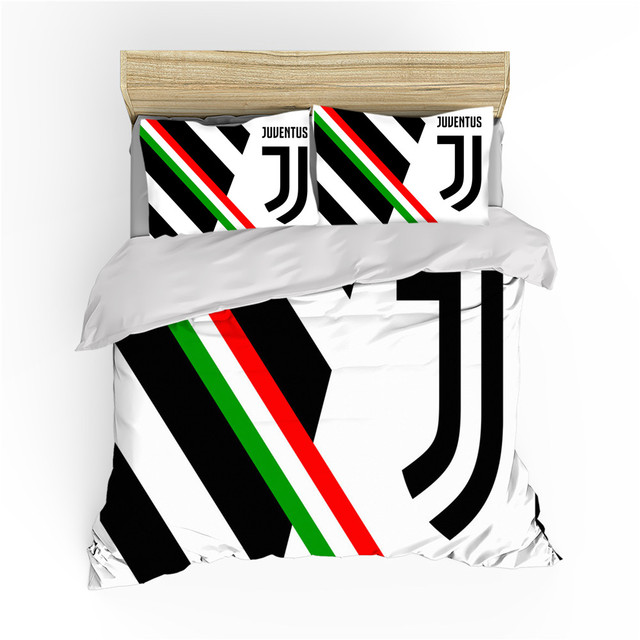 2 3 Pieces Bedding Set Football Team Emblem Printed Duvet Cover Sport Warm Bed Quilt Cover Kids Bedroom Soccer Bed Cover Set Bedding Sets Aliexpress