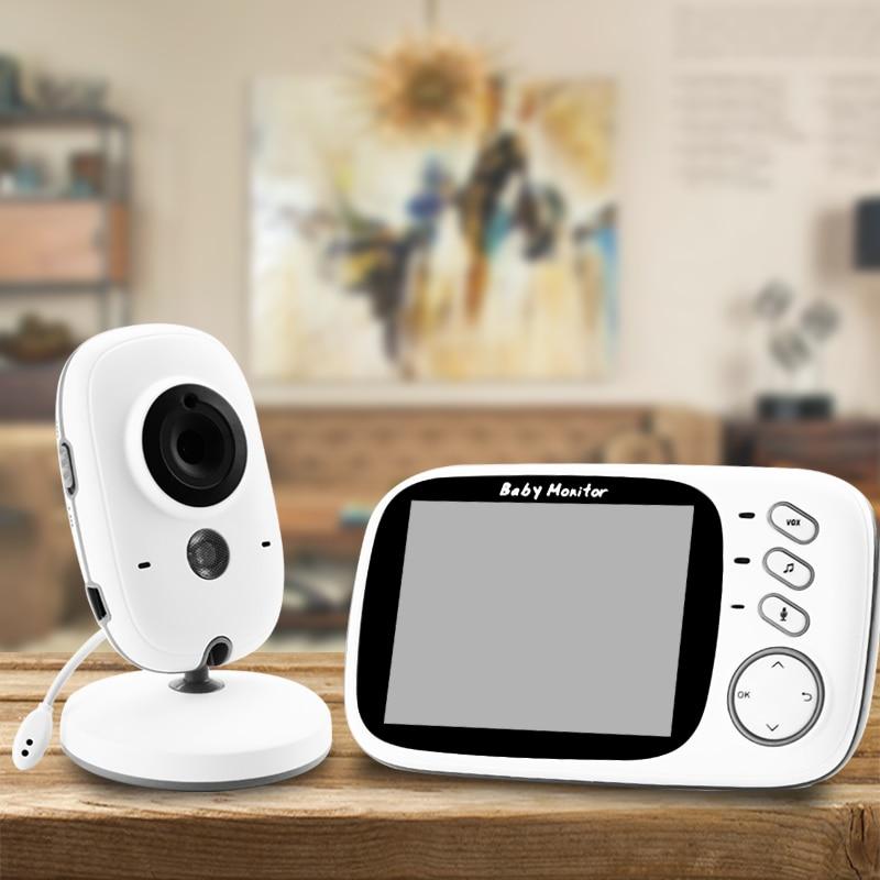 VB603 Sans Fil Vidéo Couleur Bébé Moniteur avec 3.2 Pouces LCD 2 Voies Audio Discuter de Vision Nocturne Caméra De Surveillance Baby-Sitter