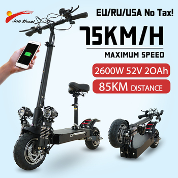 flj newest design foldable electric scooter for adults with 3200w motor wheel electric scooter off road fat tire kick scooter 75KM/H Electric kick scooter Dual Motor 2600W 11 inch Fat Tire Foldable USB Waterproof Electric Scooters Adults Duty Free EU