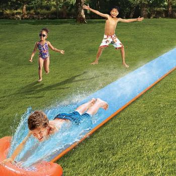 Dzieci nadmuchiwane pojedyncza zjeżdżalnia duża gruba Surfing sporty wodne podwórko lato na świeże powietrze gry wodne zjeżdżalnia wodna basen tanie i dobre opinie POOL