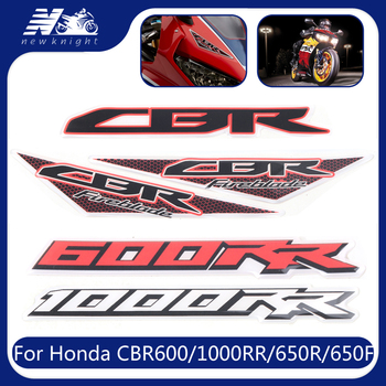 For Honda CBR600RR CBR650R CBR650F CBR1000RR Motorcycle Tank Pad 3D Waterproof Sticker Decal Protector Fairing Emblem Badge Logo image