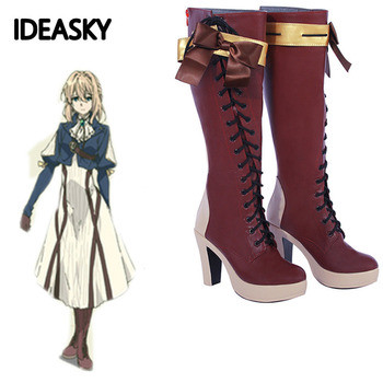 Fioletowe buty Evergarden Cosplay fioletowe buty Evergarden rozmiar klienta wykonane buty Anime Cosplay tanie i dobre opinie IDEASKY Unisex Dla dorosłych Violet Evergarden Cosplay shoes GAME man men women woman adult adults Costumes Polyester Fits smaller than usual Please check this store s size