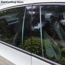 Voiture B Bande Porte Fenêtre Colonne Centrale Garniture Protection Autocollants PC Housse pour Kia Sportage QL RIO K3 K4 Optima K5 Cerato Forte KX5