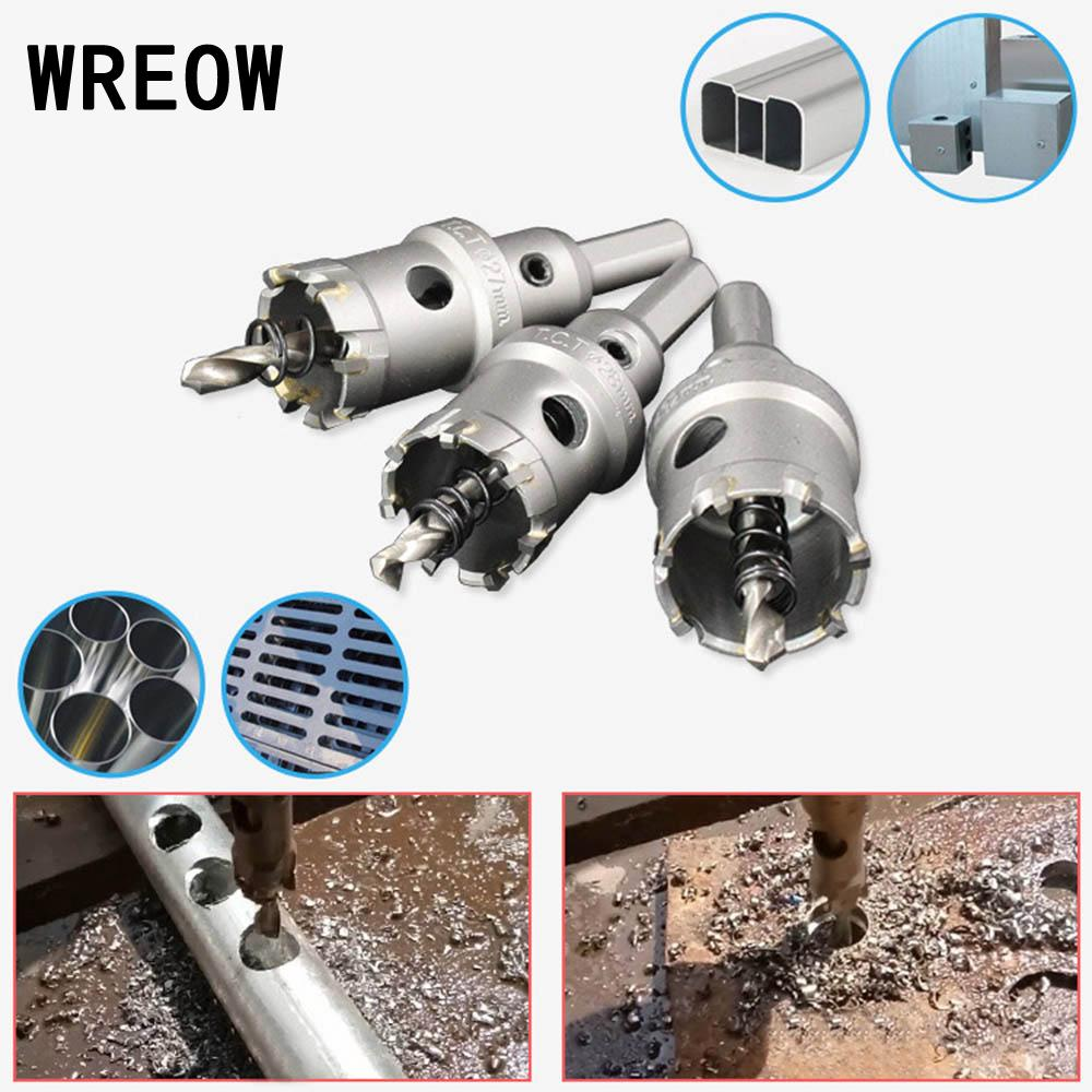 Carbide TCT Holesaw Drill Bit 3 Side Shank Hole Saw For Steel Metal Wood