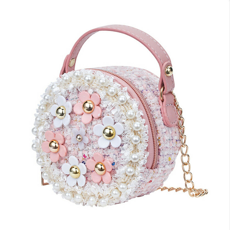New Women Bag Lady Little Girls Toddler Princess Lovely Bag Kids Baby Messenger Shoulder Crossbody Flower Bag