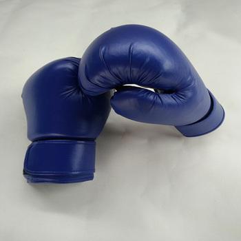 PU niebieski rękawice bokserskie dorosłych Taekwondo sprzęt dorosłych Sanda rękawice rękawice do walk sprzęt do ćwiczeń sprzęt do ćwiczeń tanie i dobre opinie Blue 15*35cm adults 200g
