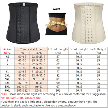 Women's Shapewear Extra Strong Latex Waist Trainer Workout  Hourglass Belt Waist Cincher Trimmer Long Torso Fajas 9 Steel Bone 2