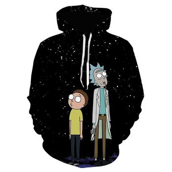 Autumn/Winter New Anime Rick 3D Hoodie for Men and Women Fashion Youth Casual Long Sleeve hoodie sweatshirt mens clothing 2
