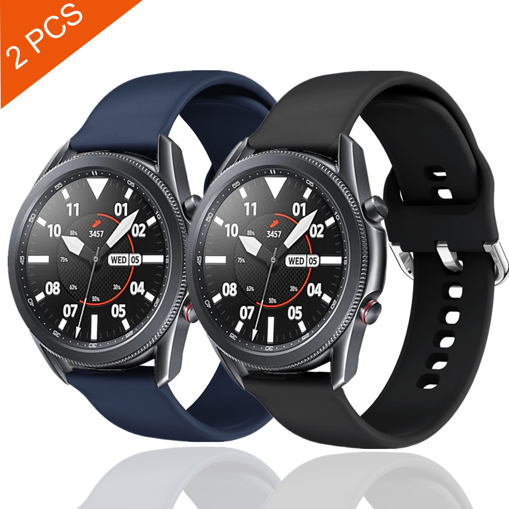 galaxy watch 3 band 45mm 41mm for samsung galaxy watch 46mm active 2 gear s3 Frontier silicone strap for huawei watch gt 2e belt