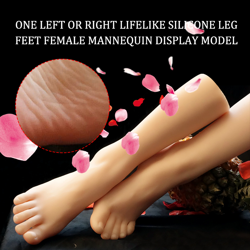 Lifelike Silicone Female Legs Feet Mannequin   Display Model One Left Or Right