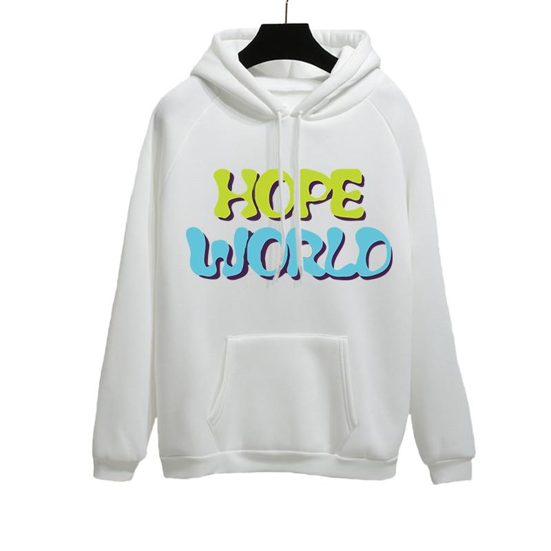 Bulletproof Boy Scouts J-hope Hope World Yellow Hixtape Kpop Hoodie Bangtan Hope World Pocket Print Hoody