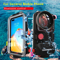 Bluetooth Universal Waterproof housing case For iphone huawei xiaomi samsung LG SONY ZTE oneplus redmi Cover Diving Underwater
