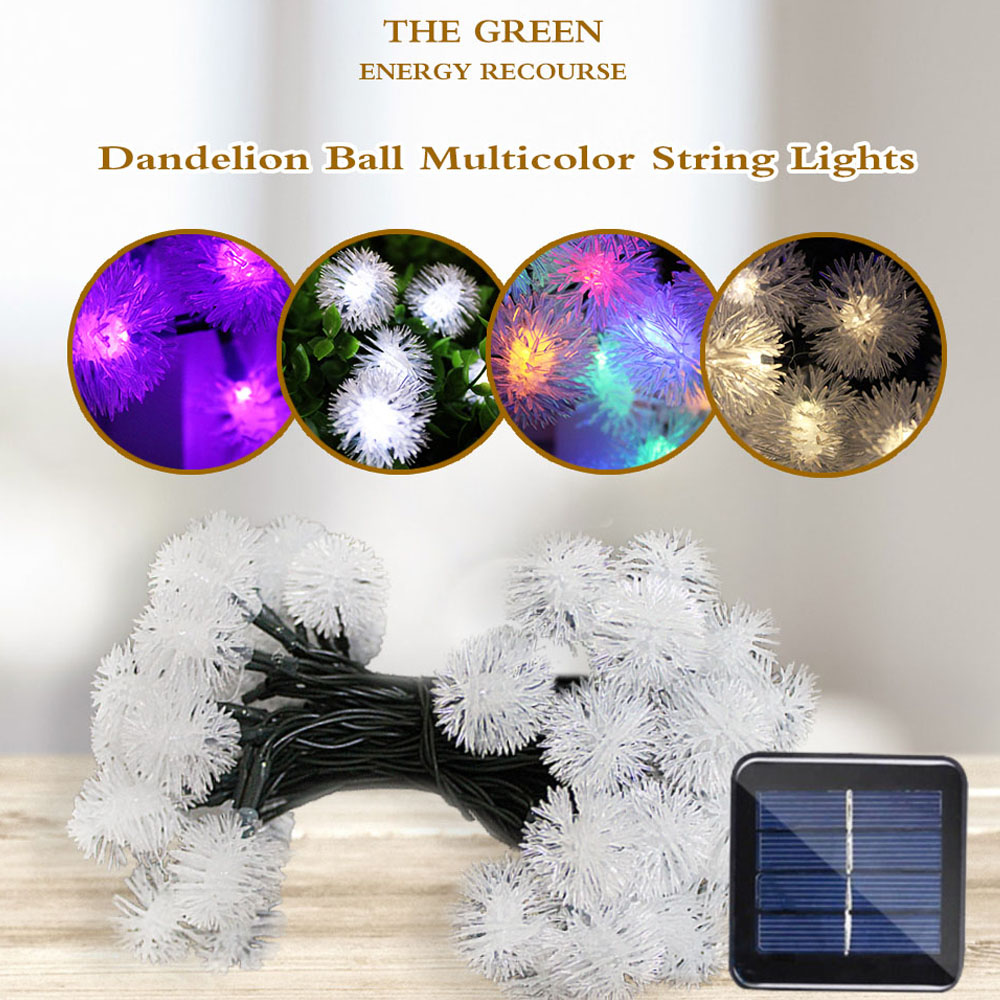 5m 50 LED Light String Solar Garland LED String Fairy Lights Solar Powered Lamp Outdoor Holiday Christmas Party For Garden Decor