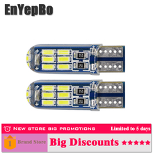 2 x LED car Clearance Parking Lights T10 w5w 168 192 led Car Side Wedge Light 6000K White Blue Lamp Bulb Styling 12V