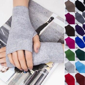 1 Pair Winter Gloves Female Fingerless Gloves Without Fingers Women Cashmere Warm Winter Gloves Hand Wrist Warmer Mittens 1