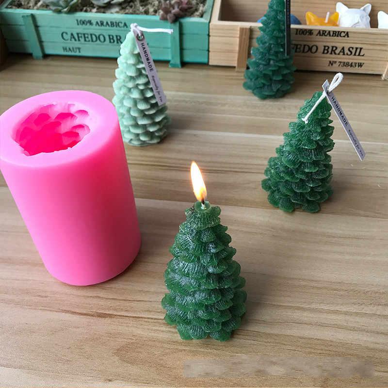 SUNSK Weihnachtsbaum Silikon Kerze Formen Fondant Form 3D Weihnachten Form Kuchen Schokolade soap Form Weihnachtsfeier Dekoration