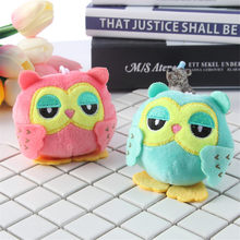 Cute Cartoon Owls Plush Keychain Toys Small Night Owls Birds Animals Key Bag Pendants Dolls Gift 10pcslot Random Color(China)