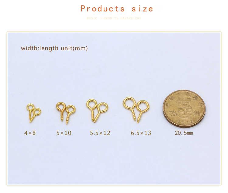 200 P 8/10/12/13 มม.เหล็กขนาดเล็กสกรู PEG BAIL TOP Pins eyepins eyepins ตะขอตะขอตาไก่ทองเงินบรอนซ์ผลการค้นหาเครื่องประดับ