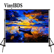 10x10FT Kate Sunset Beach Bokeh Backdrop Scenic Photo Backdrops Fondos Fotograficos Vintage Oil painting style Photocall kate blue snow photo backdrop christmas with trees bokeh light backdrops fotografia washable and seamless baby shower backdrop