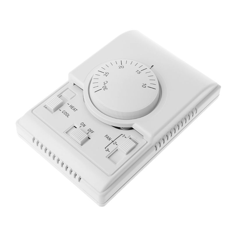 AC 220V Room Mechanical Thermostat Control Switch Air Conditioner Fan Coil Temperature Controller