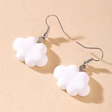 Cartoon Lovely White Cloud Girl Earrings Tide Creative Simple Personality Ear Hook Women Jewelry Young Girl Gifts