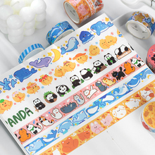 Label Masking-Tape-Set Scrapbooking-Sticker Decorative-Adhesive-Tape Japanese Stationery