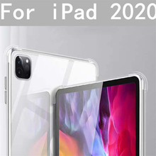 Silicone Case for iPad Pro 12.9 2020 TPU Clear Transparent Soft Ultra Thin Cover for Apple iPad Pro 12.9 inch 2020 Accessories tablet case for apple ipad pro 2 case 9 7 inch crystal clear transparent silicon ultra thin slim tpu soft cover