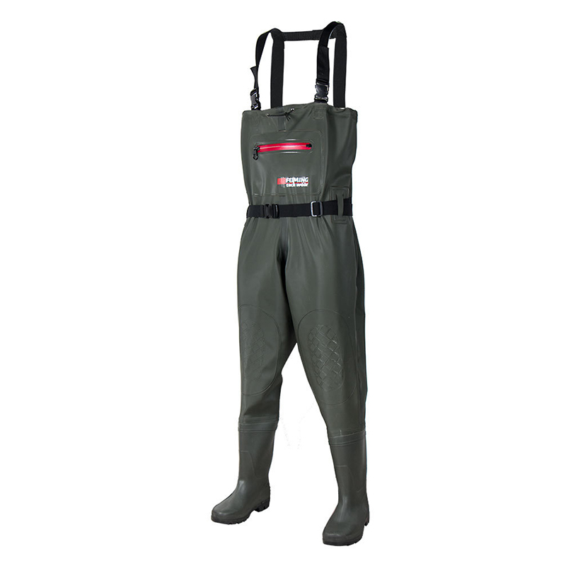 Chest Waders Boot foot with Wading Belt  1