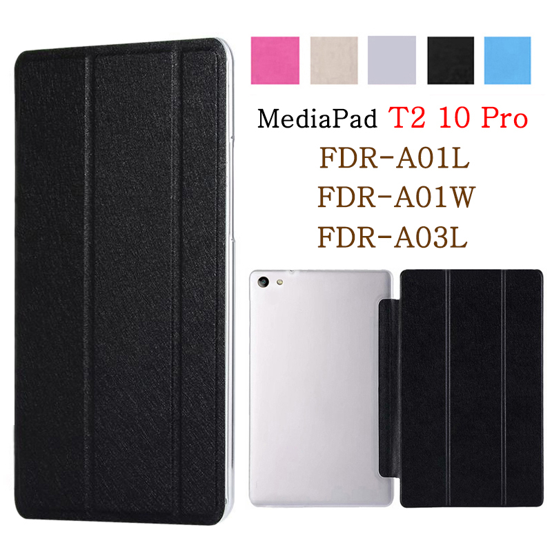 Stand Flip Case For Huawei MediaPad T2 10.0 Pro FDR-A01L A01W FDR-A03L 10'' PU Leather Magnetic Case Auto Wake/Sleep Smart Cover