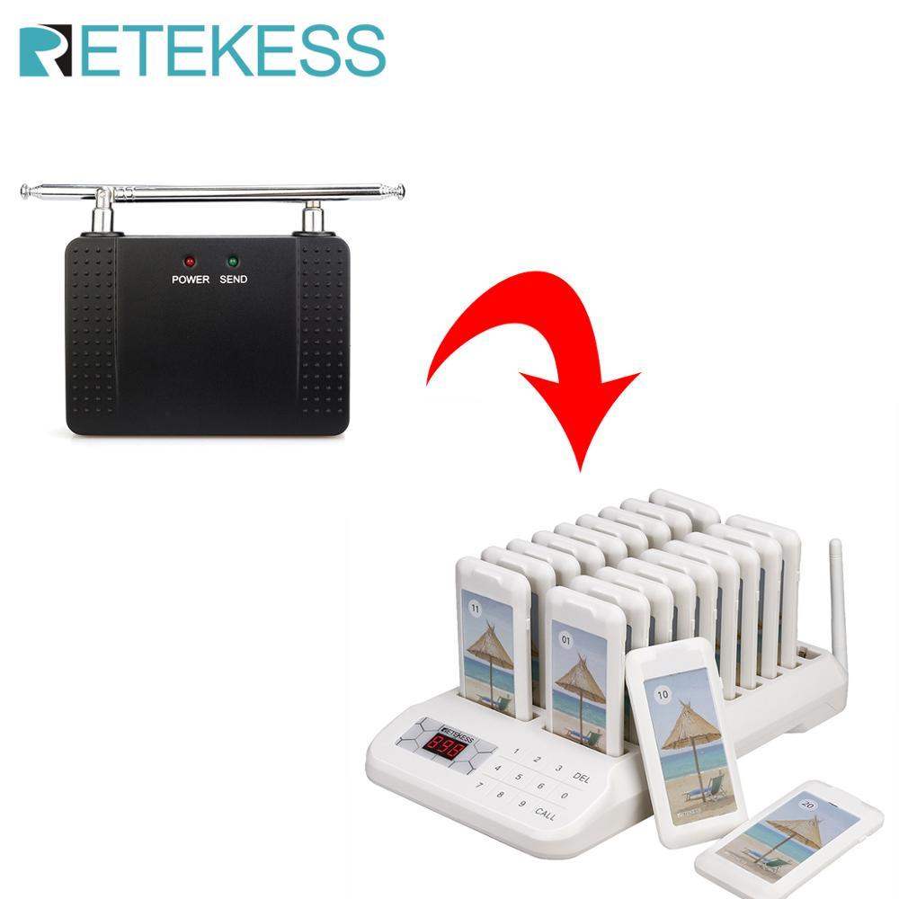 Retekess – téléavertisseur TD172 pour Restaurant avec 20 bips et amplificateur de Signal, système d'appel sans fil pour Restaurant et clinique 1