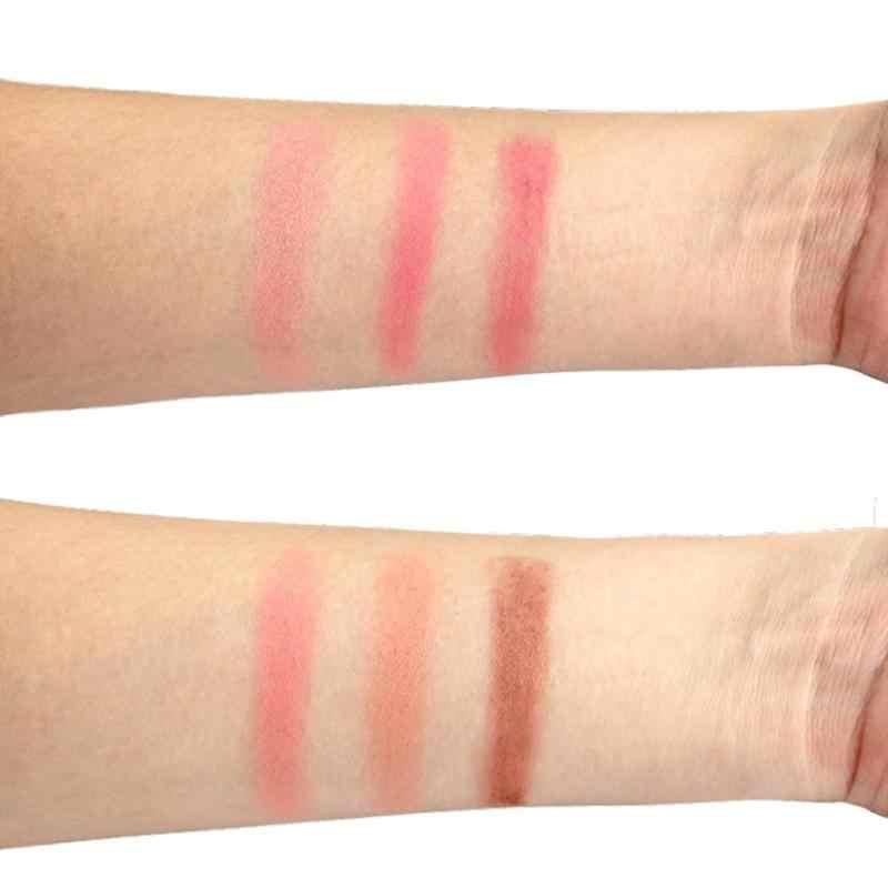 פנים סומק צבעים קל ללבוש איפור טבעי אבקת רוז 'נשים איפור טבעי סומק צבעים עמיד צבעים סומק עם מברשת