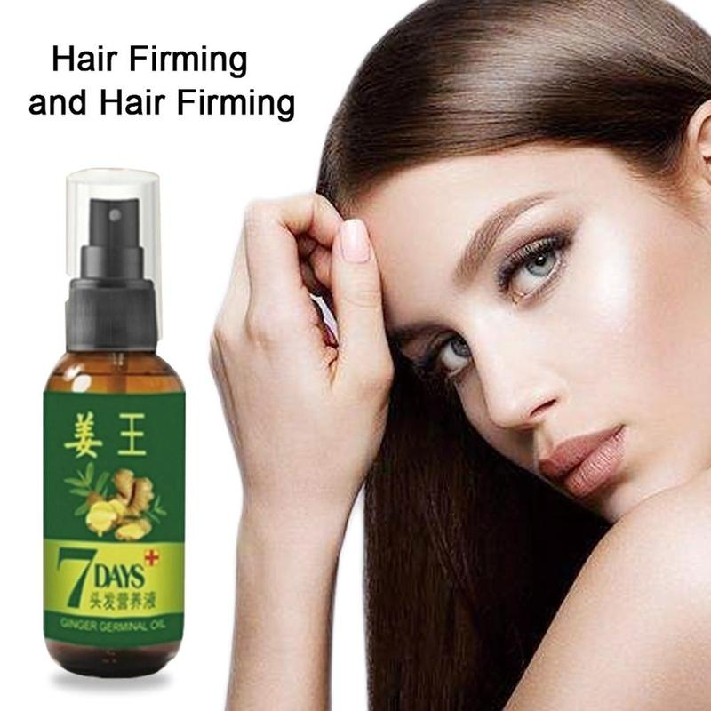 7 Days Ginger Hair Growth Serum 30/50ml Anti Preventing Hair Loss Alopecia Liquid Damaged Hair Repair Growing Faster