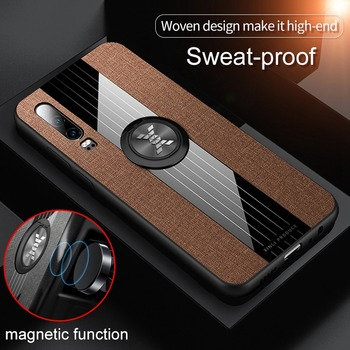 360 Cloth Case For Honor 9X 10 Lite V20 Case Metal Ring Car Holder Magnetic Cover For Huawei P30 P20 Lite Pro Mate 20 30 Case image