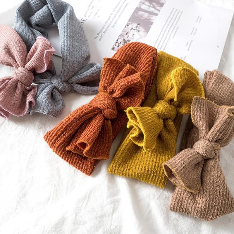 Koreański nowy dziecięcy opaska do włosów łuk tkanina elastyczna opaska na głowę jesienne i zimowe dziewczęce akcesoria do włosów dla dzieci