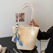 2021 Summer New Fashion Woven Bag Casual Ladies Shoulder Bag Women