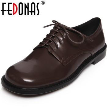 FEDONAS Fashion Quality New Women Shoes Genuine Leather Basic Concise Thick Heels Pumps Cross-Tied Butterfly Knot Shoes Woman