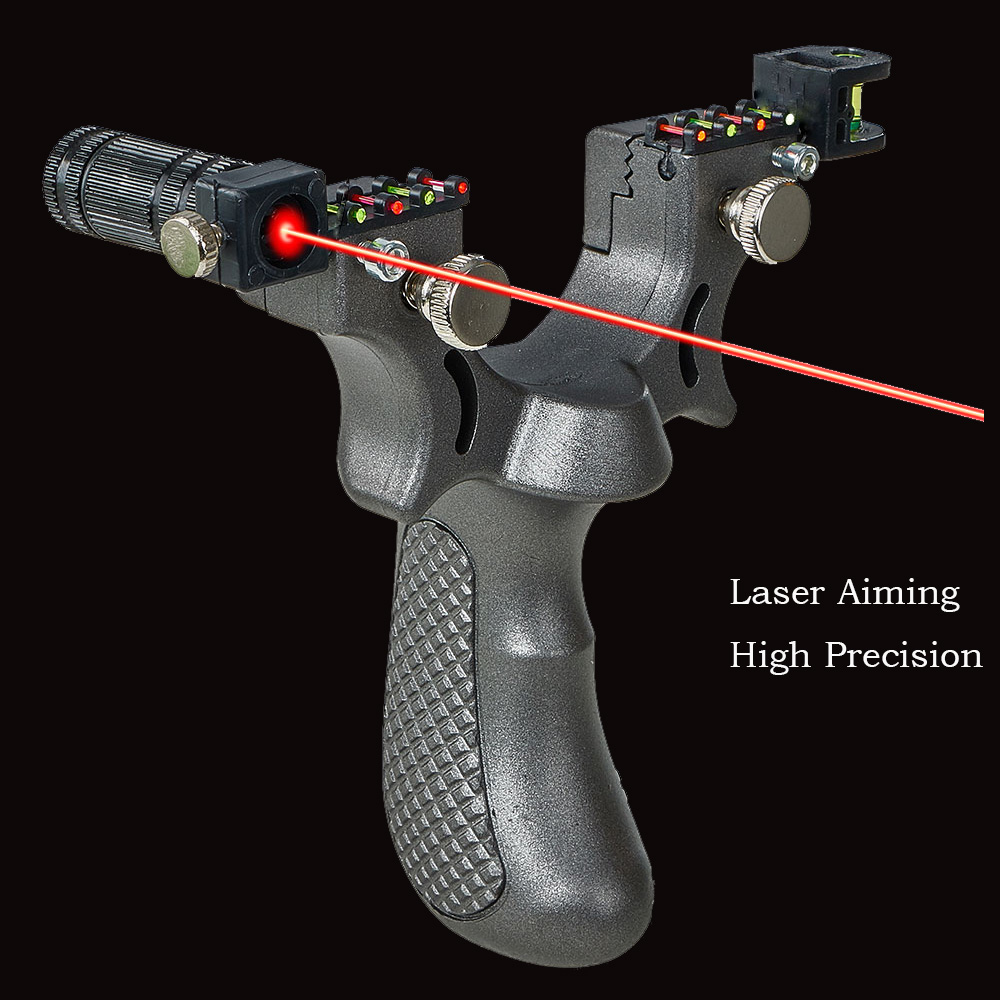 Laser Aiming Slingshot Professional Hunting Slingshot Hunting Powerful With Rubber Band High Precision Outdoor Sport Shooting