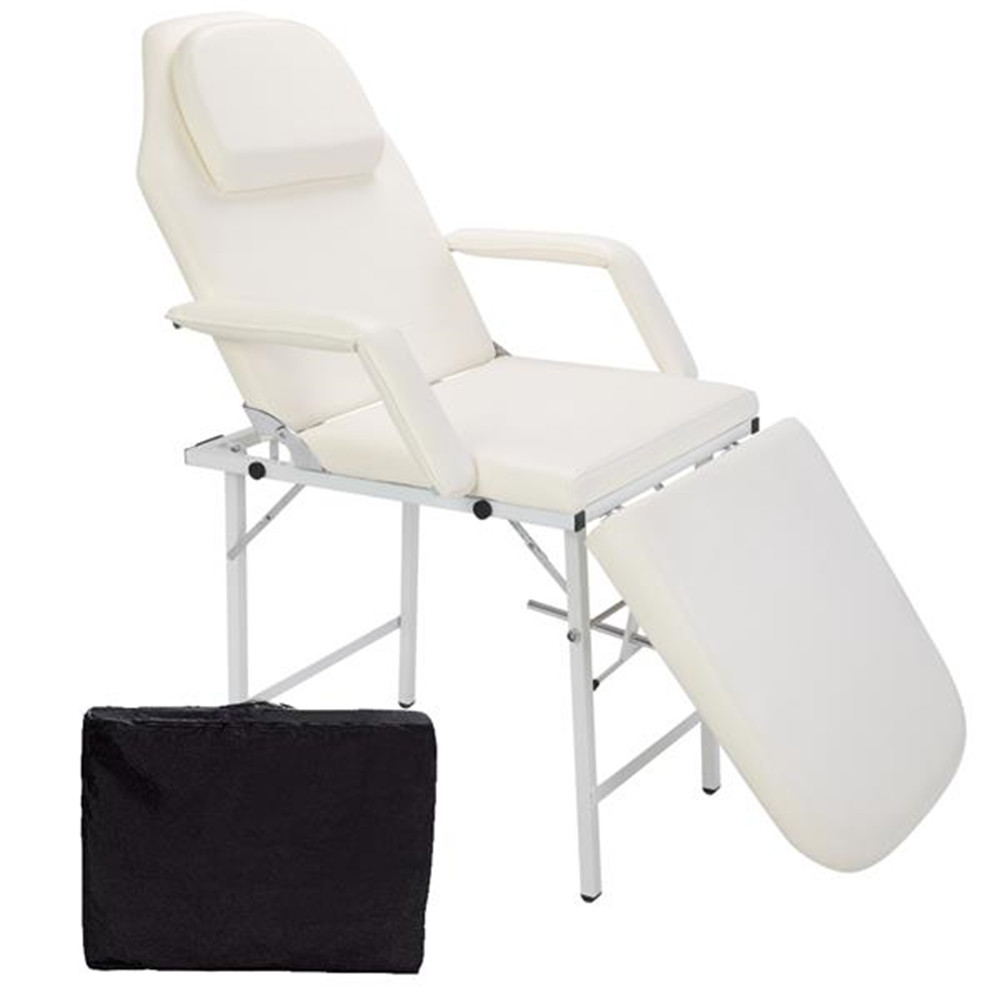 HZ018 Portable Adjustable Dual-Purpose Barber Chair White Beauty Bed Removable And Portable Massage Table