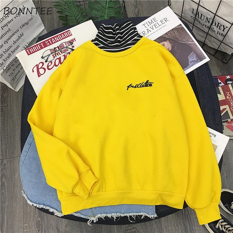 Hoodies Women Spring Autumn Winter Trendy Korean Style Simple Ulzzang Casual Womens Clothing Chic Streetwear High Quality Loose