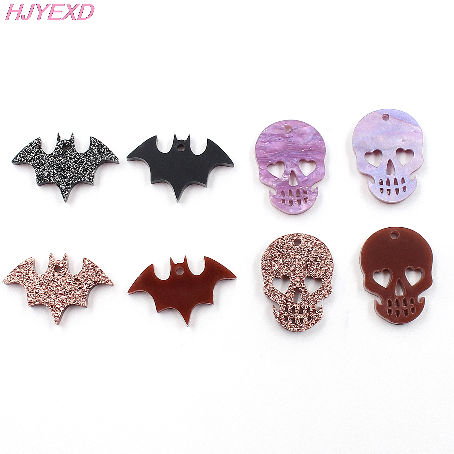 (10pcs /lot) 1 inches Acrylic Texas For Earrings Laser Cut Glitter Taxes Jewelry Accessories