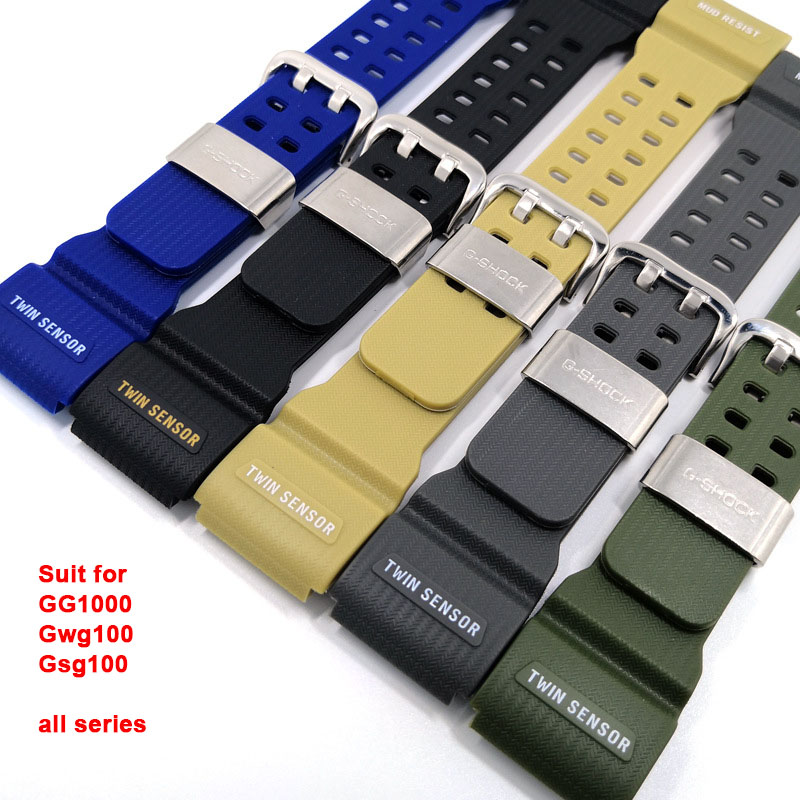 Bracelet Watch Strap for Casio <font><b>GG1000</b></font> Gwg100 Gsg100 All Serious Bands for Casio Watches Watchband Silicone Rubber image