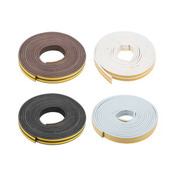 uxcell Uxcell 2 Pcs Foam Tape Self-Adhesive 9mm Width 6-7.5mm Thick, Total 16.4/26/32.8 Feet Brown/Black/White/Gray