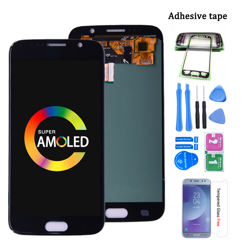 Super Amoled For <font><b>SAMSUNG</b></font> GALAXY S6 G920F G920A LCD <font><b>Display</b></font> with Touch Screen Digitizer Replacement free shipping image