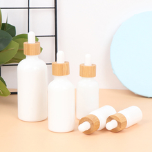 Wood Empty Dropper Clear Essential Oil Glass Massage Pipette Bottles Refillable