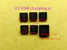 10 قطعة 1610A1 1610A2 1610A3 610A3B 1612A1 U2 USB شحن تريستار ic ل فون 5S 6 6 زائد 6s 6sp 7 7 زائد 8 8P X XS/ماكس 11/برو